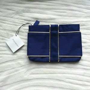 Yves Saint Laurent • Navy/Silver Makeup Bag